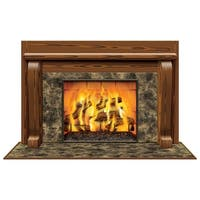 "Pack of 6 Winter Fireplace Insta-View Christmas Wall Decorations 38"" x 62"" - brown"