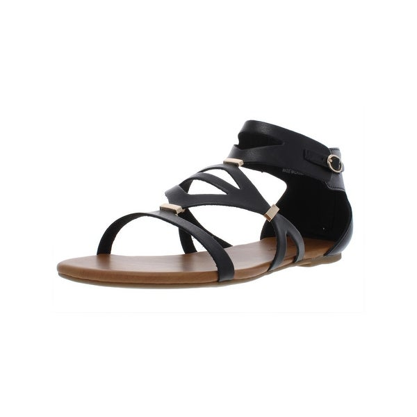 1c8da90410 Rock and Candy by Zigi Womens Neves Flat Sandals Faux Leather Gladiator