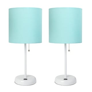 Link to LimeLights Stick Lamp with USB Charging Port and Fabric Shade 2 Pack Set Similar Items in Desk Lamps