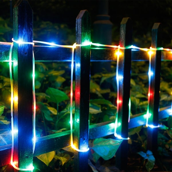Rope Lights 200LED,8 Modes with Memory Function Copper Wire String Rope Lights Waterproof RGB Multi-color