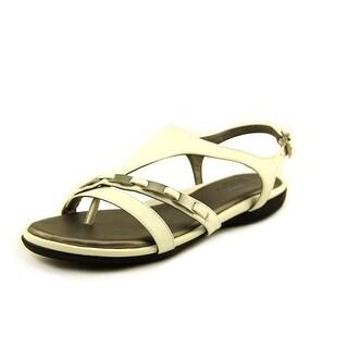 Life Stride Impress Women W Open-Toe Synthetic White Slingback Sandal