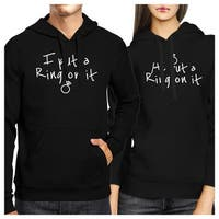 Ring On It Couple Hoodies Engagement Photo Shoot Matching Outfits