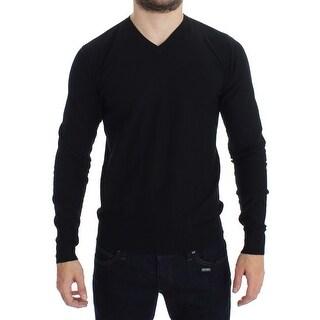 Versace Jeans Versace Jeans Black V-neck Pullover Sweater