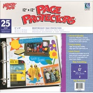 Memory Book Top Load Page Protectors 12X12 3 Ring Postbound Clear 25/Box
