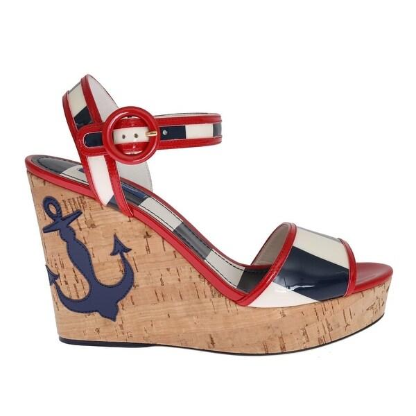 Shop Dolce \u0026 Gabbana Red White Blue