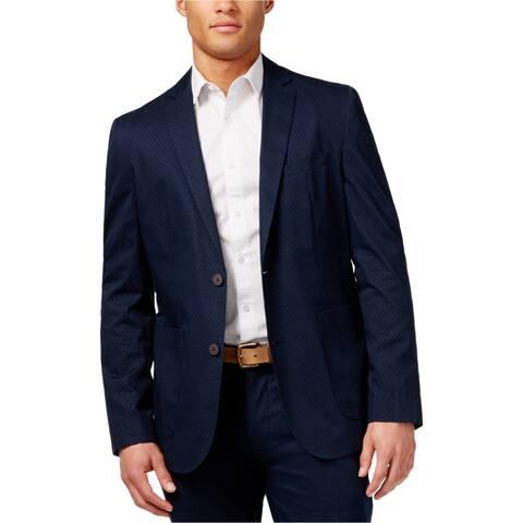 Vince Camuto Mens Print Two Button Blazer Jacket