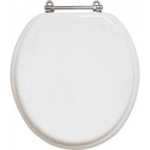 """Mintcraft T-17WMC Round Toilet Seat, 17"""", White"""