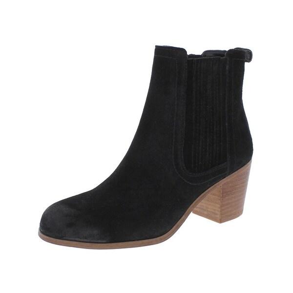 Sam Edelman Womens Lance Ankle Boots Suede Block Heel