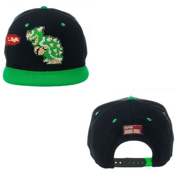 192c3a4a70d Shop Nintendo Black  Green Super Mario Bowser Snapback Hat - Free Shipping  On Orders Over  45 - Overstock - 12278611