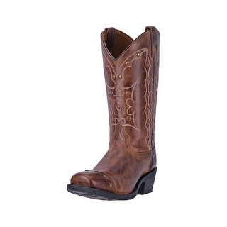 Dingo Western Boots Mens Gavin Cowboy Square Toe Leather Brown DI5715