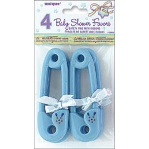 Blue Ribbon - Party Favors Baby Pins 4/Pkg