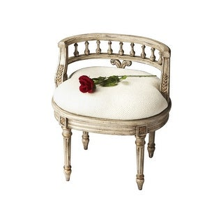 Offex Traditional Oval Vanity Seat Guilded Cream - Beige