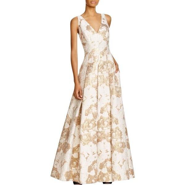 Aidan Mattox Womens Formal Dress Textured Sleeveless