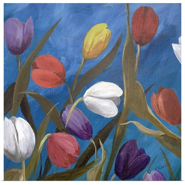 """""""Tulips One"""" Poster Print"""