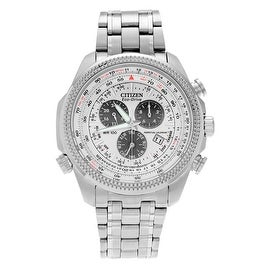 Citizen Men's BL5400-52A 'Eco Drive' Stainless Steel Perpetual Calendar Bracelet Watch