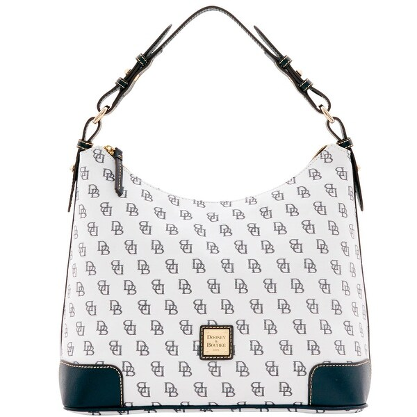 Dooney & Bourke Madison Signature Large Erica (Introduced by Dooney & Bourke at $198 in Feb 2017) - White Black