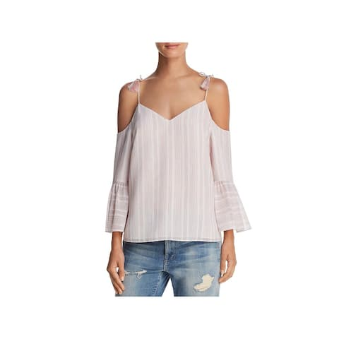 Cooper & Ella Womens Sofie Pullover Top Tassel Cold Shoulder