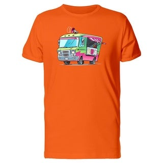 Retro Fast Food Truck Cartoon Tee Men's -Image by Shutterstock (5 options available)