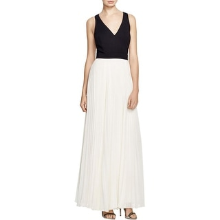 Laundry by Shelli Segal Womens Evening Dress Colorblock Pleated