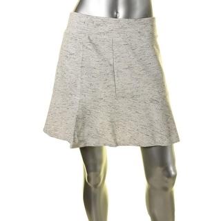 Kensie Womens Ponte Slub Mini Skirt - M