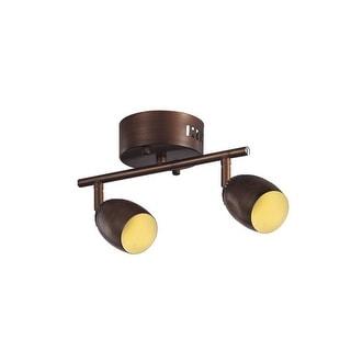 Trans Globe Lighting W-812 LED Beam 2 Light Track Light Kit - rubbed oil bronze