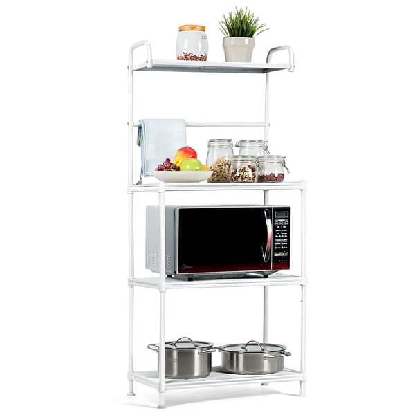 Shop Costway 4 Tier Bakers Rack Microwave Oven Rack Shelves