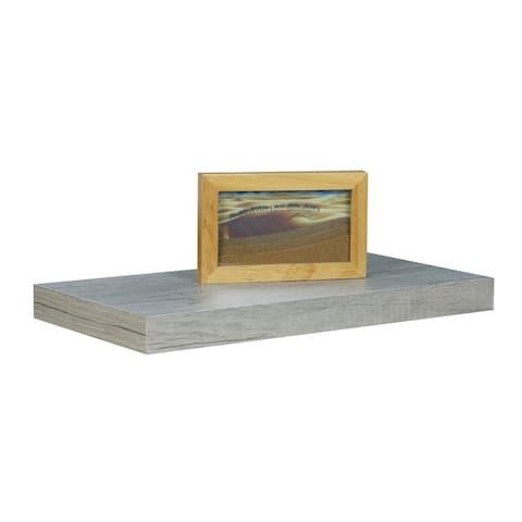 Home Basics Grey 18-inch MDF Floating Shelf - 18'' x 1.5''/45 x 3.8 cm/Shelf holds 10lbs.