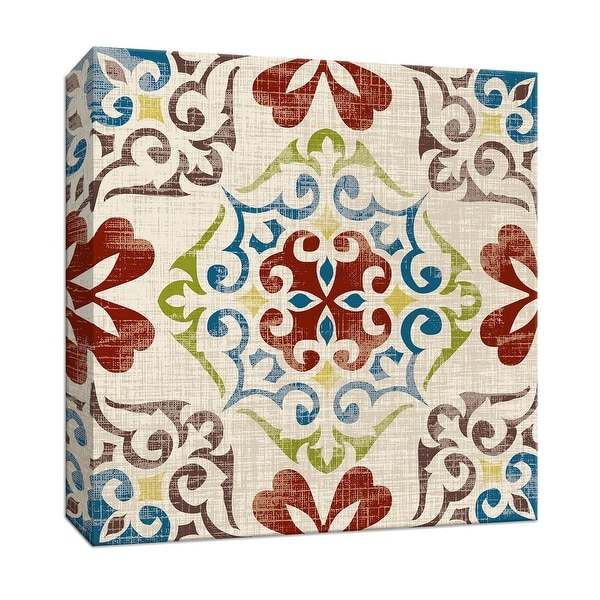 "PTM Images 9-146816 PTM Canvas Collection 12"" x 12"" - ""Global Tile II"" Giclee Patterns and Designs Art Print on Canvas"