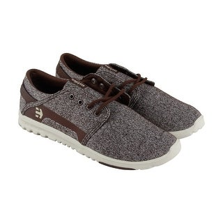 Etnies Scout Mens Brown Canvas Lace Up Skate Shoes
