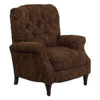 Offex Traditional Tobacco Fabric Tufted Hi-Leg Recliner [OF-AM-2650-6370-GG]