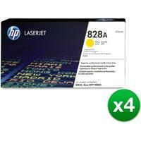 HP 828A Yellow LaserJet Imaging Drum Toner Cartridge (CF364A)(4-Pack)