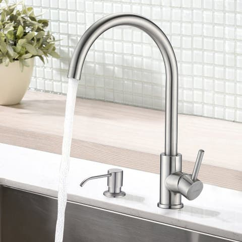 Modern Bar Sink Faucet with Panel and Soap Dispenser - 9.92*8.78*14.57