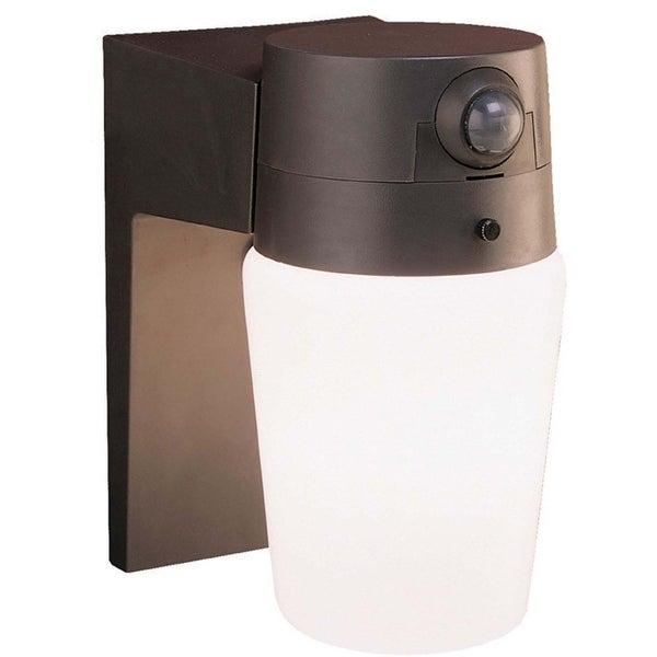 Heath Zenith HZ-5610-BZ Entryway Cylinder Glass Motion Sensor, 60 Watt