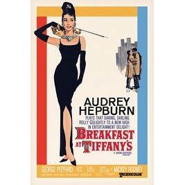 ''Audrey Hepburn, Breakfast at Tiffany's Movie Poster'' by Anon Movie & TV Posters Art Print (36 x 24 in.)