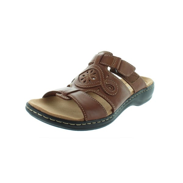 25b43255b5d Clarks Womens Leisa Higley Slide Sandals Leather Open Toe - 10 medium (b