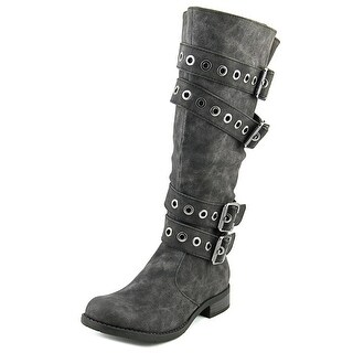 2 Lips Too Too Jessie Women Round Toe Synthetic Knee High Boot