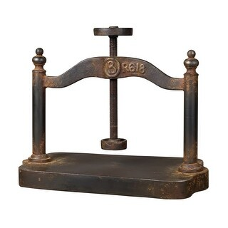 Sterling Industries 129-1009 Cast Iron Book Press - restoration rusted black - N/A