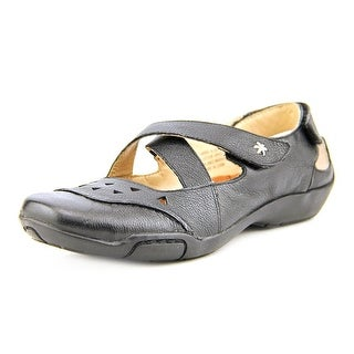 Ros Hommerson Carrie Women W Round Toe Leather Black Mary Janes