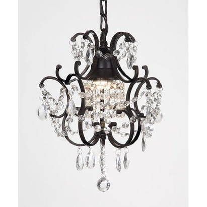 Chandelier Wrought Iron Crystal Chandelier H14 x W11