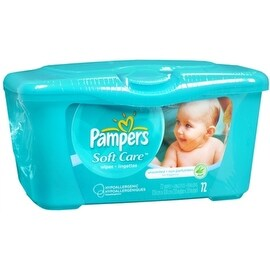 Pampers Natural Aloe Unscented Wipes 72 Each (4 options available)