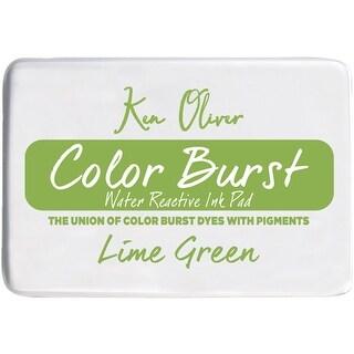 """Ken Oliver Color Burst 3.75""""X2.5"""" Stamp Pad-Lime Green"""