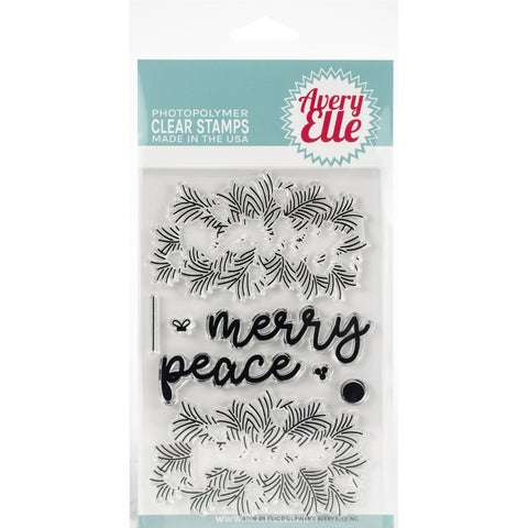 """Avery Elle Clear Stamp Set 4""""X6""""-Peaceful Pines"""