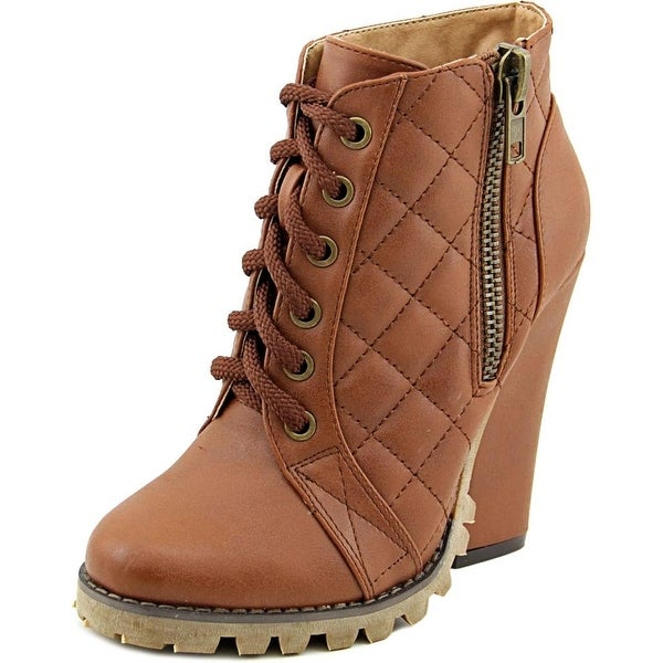 Michael Antonio Valley Women Round Toe Synthetic Brown Ankle Boot