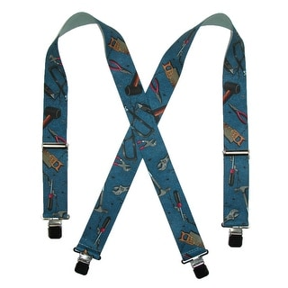 CTM® Men's Elastic 2 Inch Wide Clip-End Hand Tools Suspenders - One Size