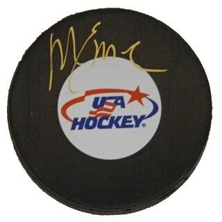 Mike Eruzione Signed USA Hockey Logo Hockey Puck