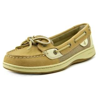 Sperry Top Sider Angelfish Women Moc Toe Leather Tan Boat Shoe