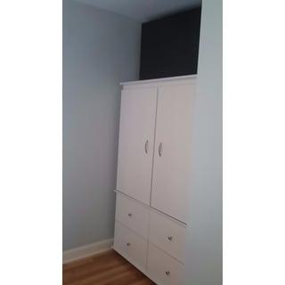 Inval Larcinia White Audio Video Armoire Cabinet