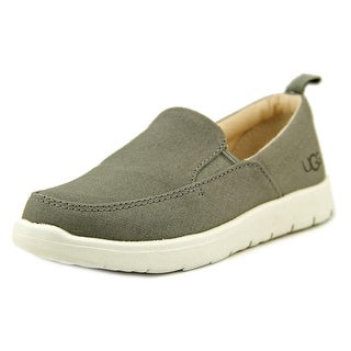 Ugg Australia Wake Youth Round Toe Canvas Gray Loafer