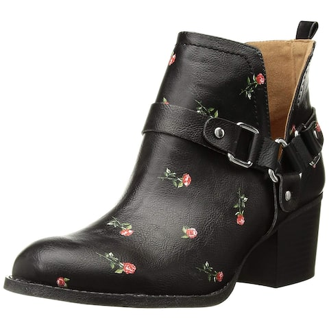 f1974e2c17ab Madden Girl Womens FINIANBLACK MULTI Almond Toe Ankle Fashion Boots