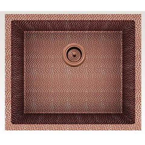 American Imaginations 21-in. W CSA Approved Rose Copper Kitchen Sink With Copper Finish And 16 Gauge - 18